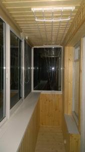 Отделка деревянными панелями в хрущевке